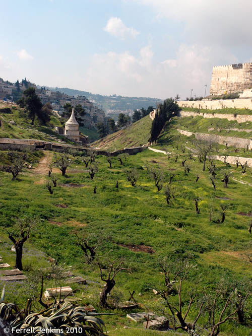 Kidron Valley looking South. Photo by Ferrell Jenkins.