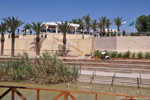 Jordan River baptism site. View from Jordan to the west. Photo by Ferrell Jenkins.