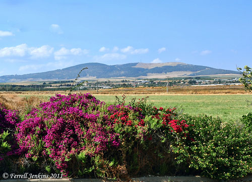 The Hill of Moreh from En Harod. Photo by Ferrell Jenkins.