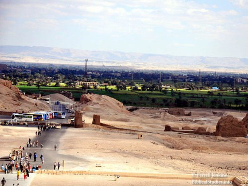 The Nile Valley from the Temple of Queen Hatsheput. Photo by Ferrell Jenkins.