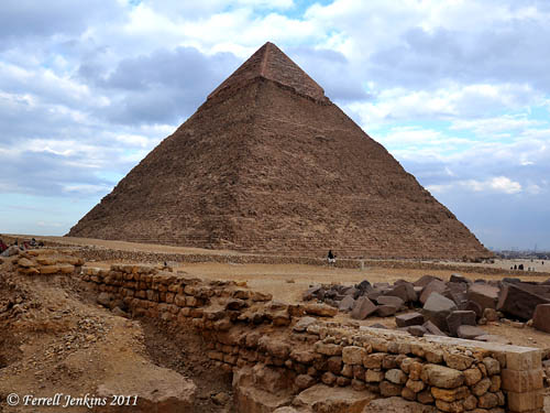 The Pyramid of Chephren. Photo by Ferrell Jenkins.