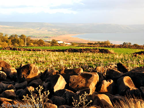 Northeast corner of the Sea of Galilee. Photo by Ferrell Jenkins.
