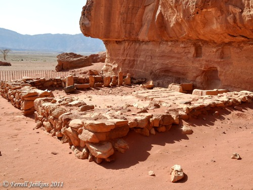 Cultic temple at Timna devoted to Hathor, et al. Photo by Ferrell Jenkins.