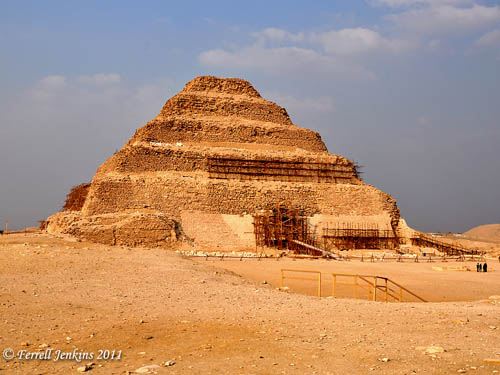 Step Pyramid of Zoser at Saqqara. Photo by Ferrell Jenkins.