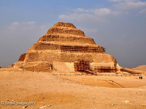 Step Pyramid of Zoser at Saqqara. Photo by Ferrell Jenkins.