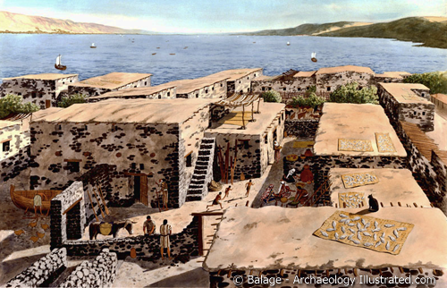 The houses of Capernaum in the time of Jesus.