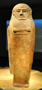 Clay coffin (sarcophagus) from Deir el-Balah.