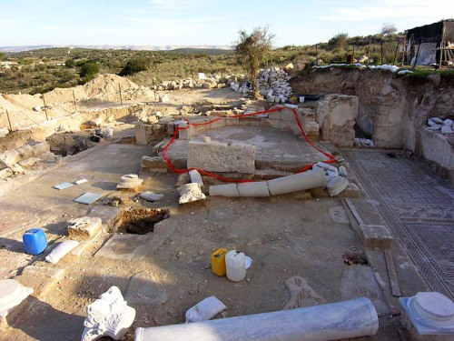 Byzantine Church excavated at Khirbet Midras. Photo: IAA.