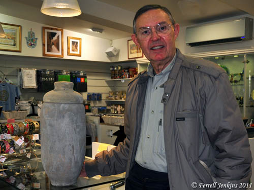 Ferrell with Qumran Replica Jar