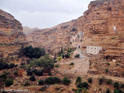 St. George Monastery in the Wadi Qilt. Photo by Ferrell Jenkins.