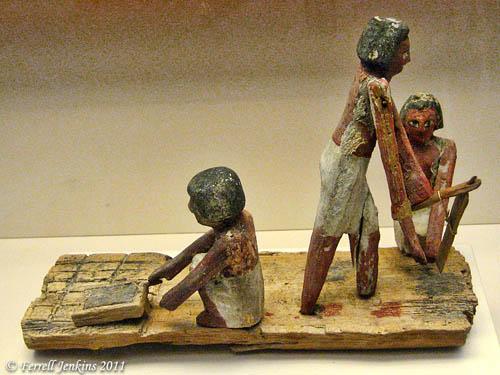 Egyptian Brick Making Model. British Museum. Photo by Ferrell Jenkins.