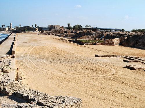 Caesarea Maritima Hippodrome. Photo by Ferrell Jenkins.