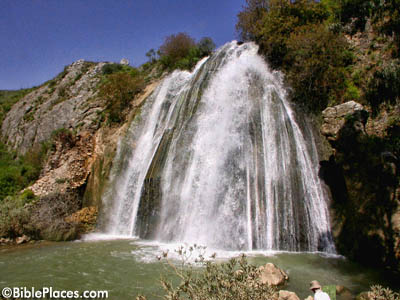 Nahal Iyon Mill Falls. Photo: BiblePlaces.com.