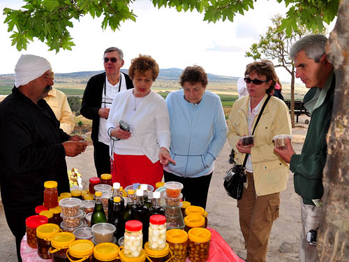 Peddling homemade goodies in the Golan Heights. Photo by Ferrell Jenkins.