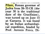 Israel Digest snippet mentioned Pilate Inscription.