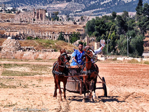 Chariot Race in the Roman Hippodrome at Jerash. Photo by Ferrell Jenkins.