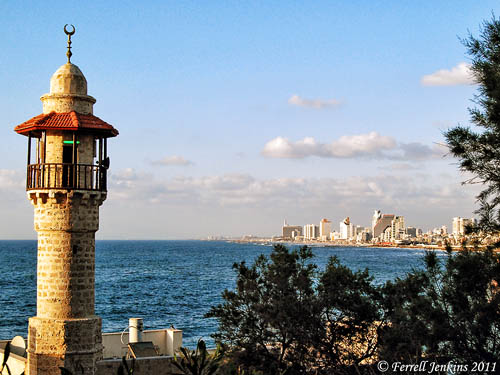 View of modern Tel Aviv from Joppa. Photg by Ferrell Jenkins.