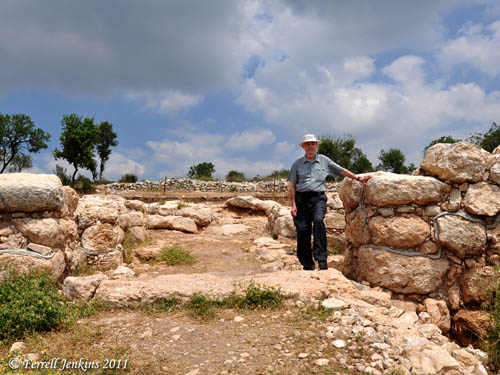 Ferrell Jenkins in the Gate at Elah Fortress at Khirbet Qeiyafa