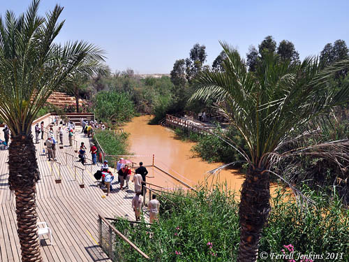 Traditional Baptism Site on the Jordan River. Photo by Ferrell Jenkins.