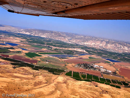 Jordan Valley between Sea of Galilee & Beth Shan. Photo by Ferrell Jenkins.