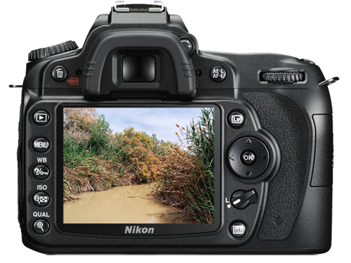 Nikon D90 showing photo of the Jordan River. Photo by Ferrell Jenkins.