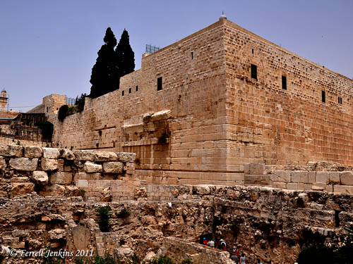 Southwest corner of the Herodian temple precinct. Photo by Ferrell Jenkins.