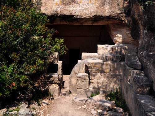 Roman Period Tomb at Midras Ruins in the Shephelah. Photo by Ferrell Jenkins.