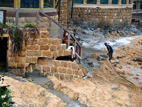 Caesarea storm damage from December 2010. Photo by Ferrell Jenkins.
