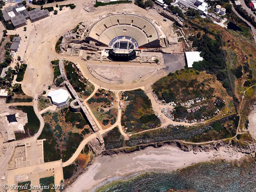 The theater at Caesarea Maritima on the Mediterranean. Photo by Ferrell Jenkins.