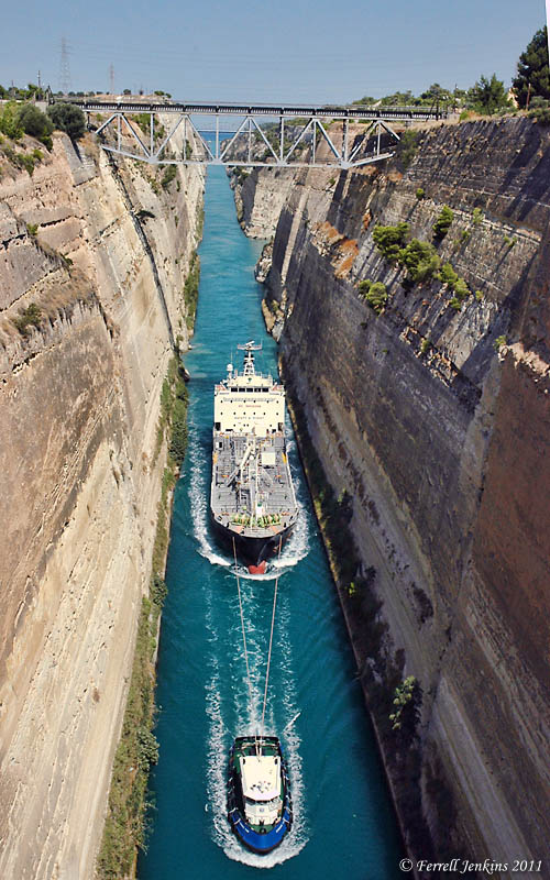Corinth Canal - Photo by Ferrell Jenkins.