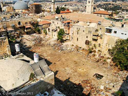 Hezekiah's Pool from roof of the Petra Hotel. Photo by Ferrell Jenkins.