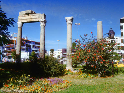 Surviving columns may be from the temple of Adonis. Photo by Ferrell Jenkins.