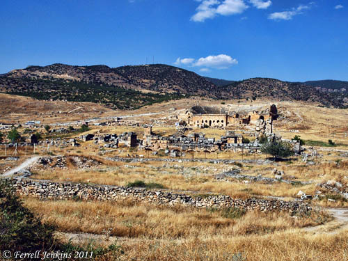 Hierapolis. The Martyrium of Philip is in the distance beyond the theater. Photo by Ferrell Jenkins.