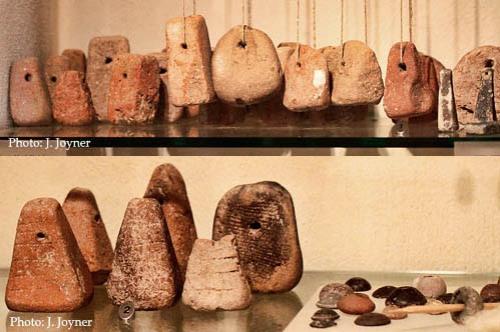 Loom weights from Yodefat and Gamla. Hecht Museum, Haifa. Photo: J. Joyner.