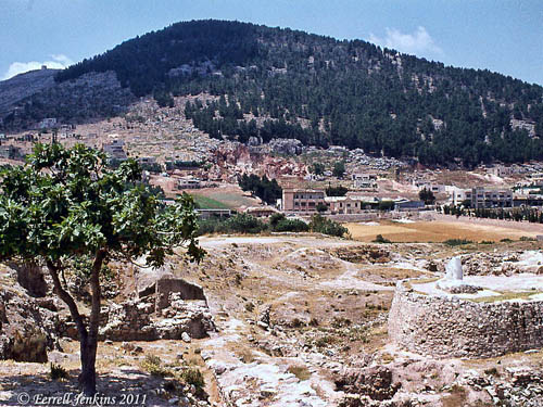 View of Mount Gerizim from Shechem. Photo by Ferrell Jenkins in 1973.