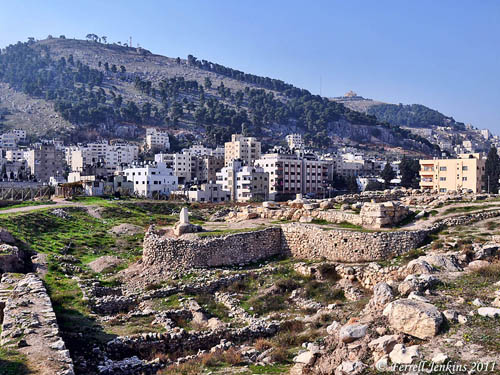View of Mount Gerizim from Shechem. Photo by Ferrell Jenkins.