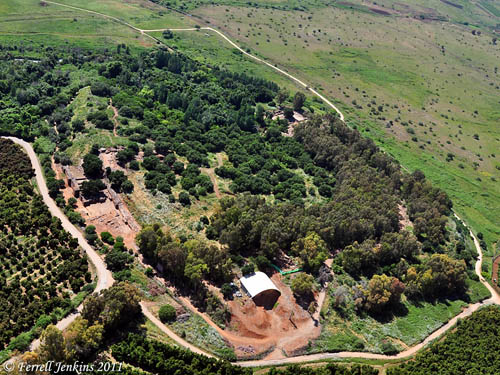 Aerial view of Tel Dan. Photo by Ferrell Jenkins. 2011.