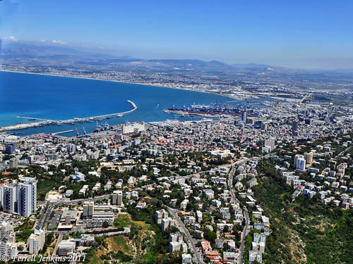 View of Plain of Acco from above Mount Carmel and Haifa. Photo by Ferrell Jenkins.