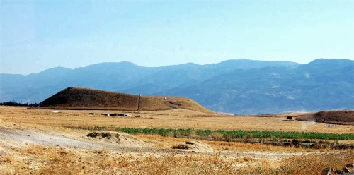 Qarqur from the east. Photo by Prof. Casana, courtesy University of Arkansas.