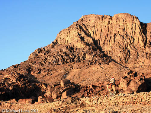 Jebel Musa, traditional Mount Sinai. Photo by Michael Lusk.