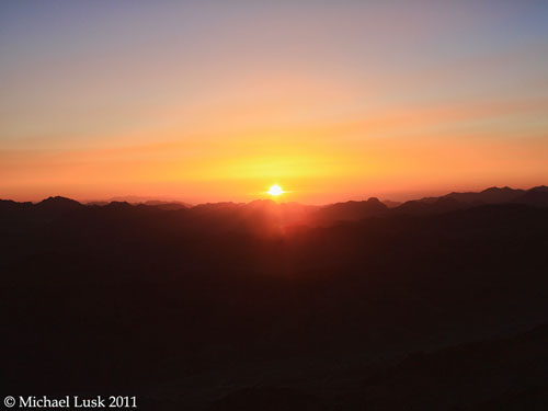 Sunrise from top of Jebel Musa - Traditional Mount Sinai