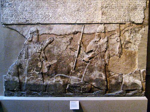 Tiglath-Pileser III Subjugates an Enemy. British Museum. Photo by Ferrell Jenkins.