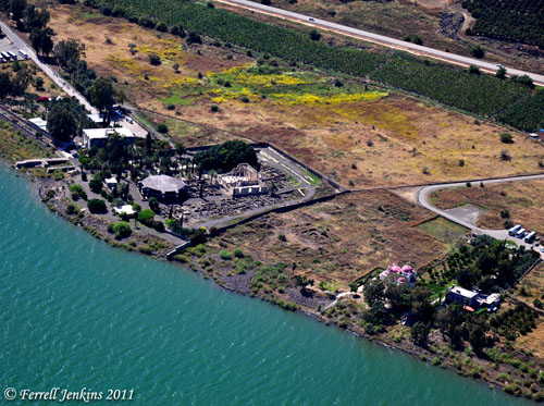 Aerial View of Capernaum. Photo by Ferrell Jenkins.