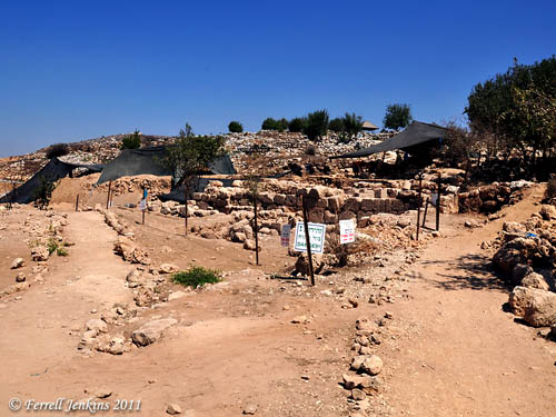 Recent excavations at the base of Tel Shiloh. Photo by Ferrell Jenkins.