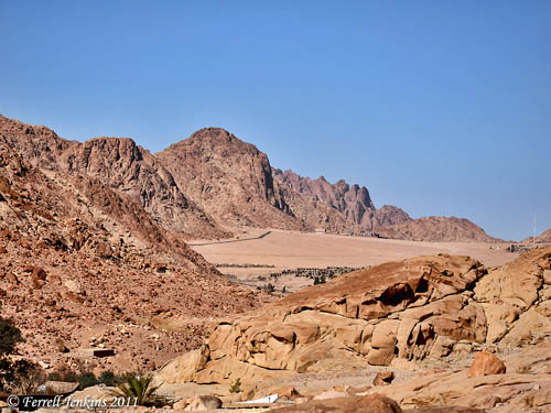 View of el-Raha, the Rest, at Jebel Musa. Photo by Ferrell Jenkins.