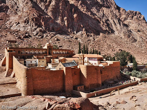 View of St. Catherine's Monastery. Photo by Ferrell Jenkins 2011.