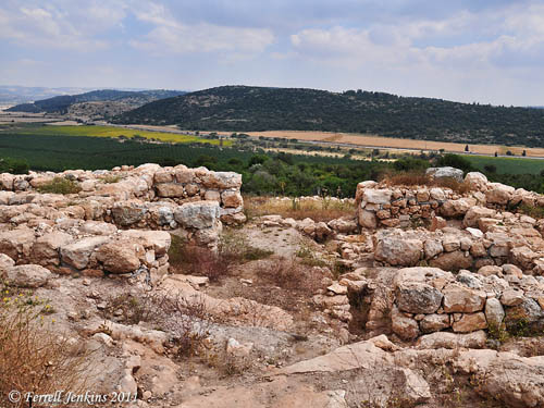 View SE over Valley of Elah toward Socoh from Kh. Qeiyafa. Photo by Ferrell Jenkins.