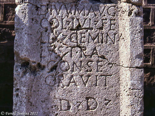 Inscription with the name Lystra. Photo by Ferrell Jenkins.