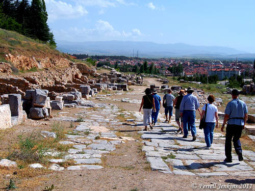 Roman Street in Pisidian Antioch. Photo by Ferrell Jenkins.