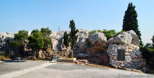 The traditional Areopagus at the base of the Acropolis in Athens. Photo by Ferrell Jenkins.